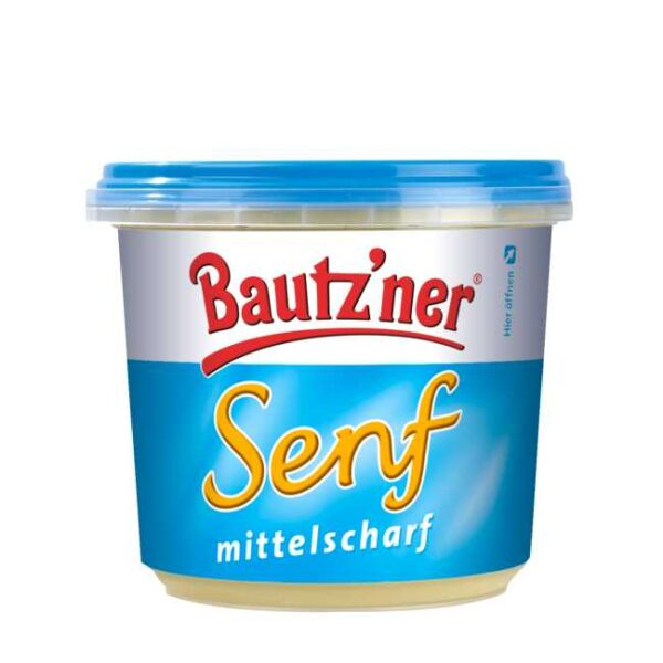 200 ml Bautz'ner Senf, mittelscharf: Tysk medium sterk sennep