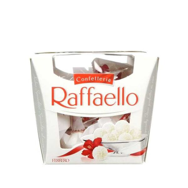 150 g Raffaello-konfekt (trøfler med kokos og mandel)