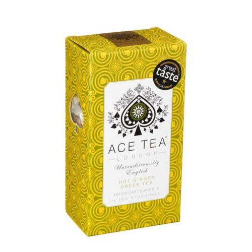 37 g (15 poser) Hot ginger green tea (ingefærte) fra England
