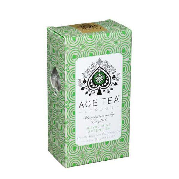 37 g (15 poser)Royal mint green tea (myntete) fra England