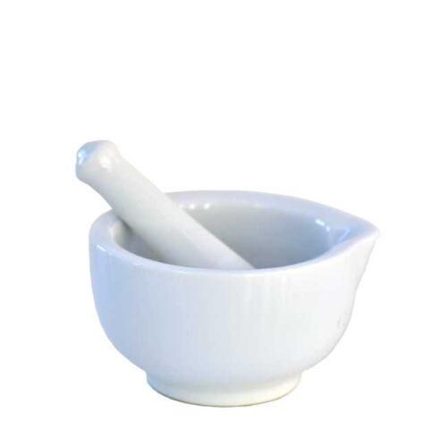 Liten porselensmorter (Ø=8,5 cm)