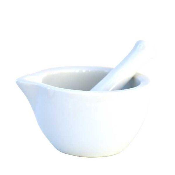 Medium/liten porselensmorter (Ø=11 cm)