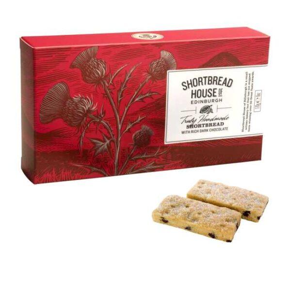 170 g ekte skotske shortbreads (småkaker), med biter av mørk sjokolade