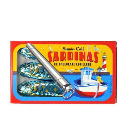 Sjokoladesardiner (24 g) fra spanske Simón Coll